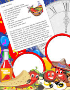 Free Kids Recipes and Photo Memory Journal Cookbook Page Sets.